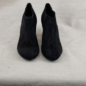 Shoes - Black Suede Bootie